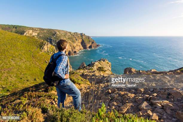 hiking at cabo da roca, portugal - sintra stock pictures, royalty-free photos & images