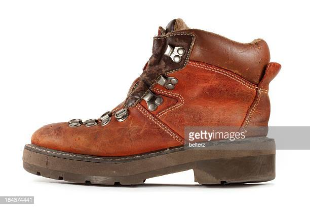 hiking boot - brown boot stock pictures, royalty-free photos & images