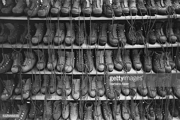 Hiking boots for sale at Eastern Mountain Sports Boston Massachusetts USA September 1978