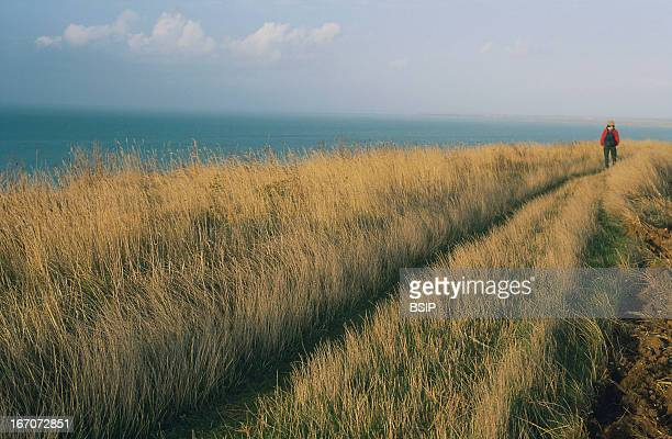 Hiking Cliffs of Merslesbains Somme France