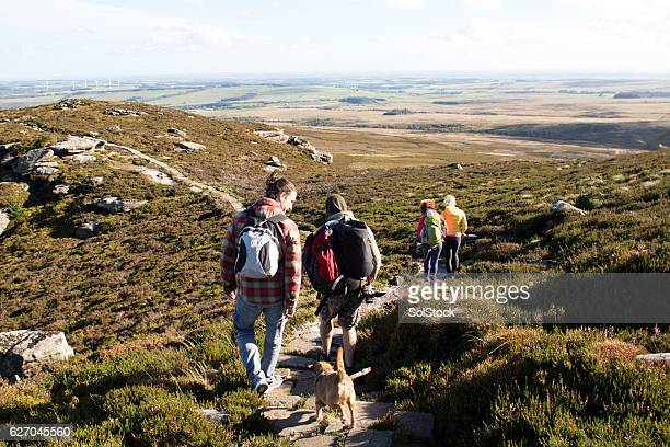 hiking club - northeastern england stock photos and pictures