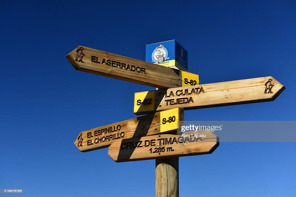 Hiking, Gran Canaria, Canary Islands, Spain. : Stock Photo