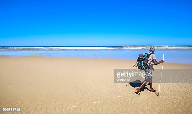hiking guide walks on beach - eastern cape stock pictures, royalty-free photos & images