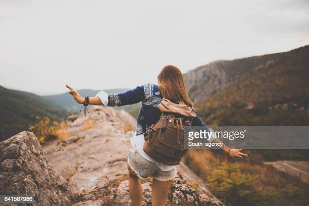 Hiking hipster