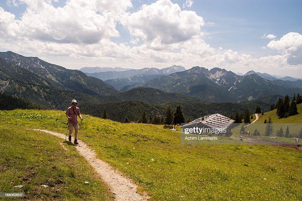 Hiking in Bavaria : Stock-Foto