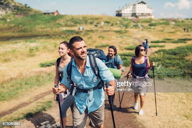Hiking in Bulgaria with friends