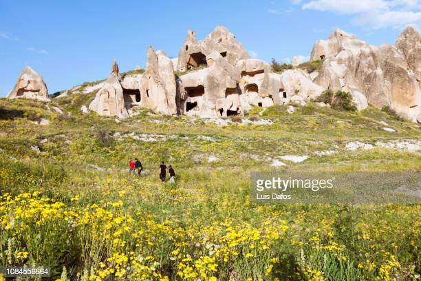 hiking in cappadocia - dafos stock photos and pictures