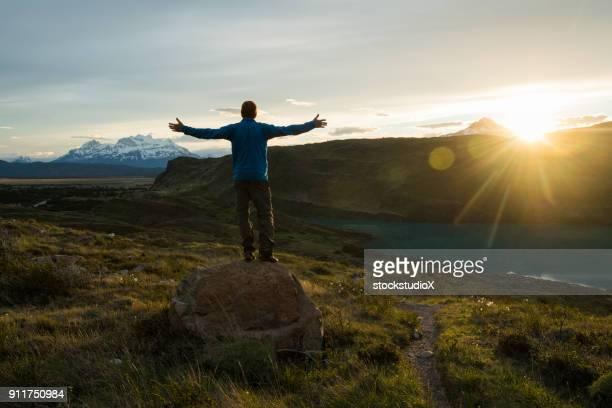 caminhadas na patagônia chilena - chile - fotografias e filmes do acervo