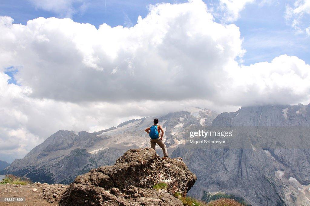 Hiking in Dolomite : Stock Photo