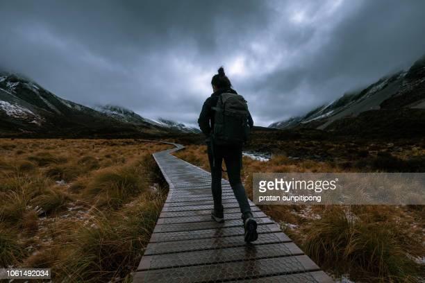 Hiking in Hooker Valley