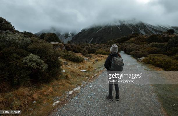Hiking in Hooker Valley Track