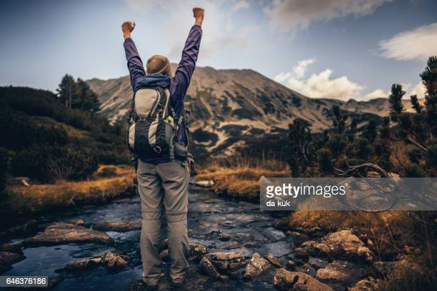 hiking in mountains - pirin national park stock pictures, royalty-free photos & images