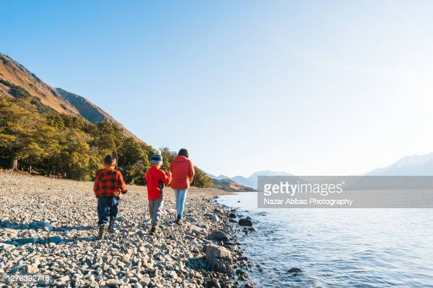 hiking in south island, new zealand. - travel stock pictures, royalty-free photos & images