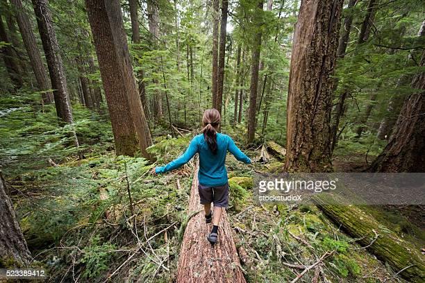 Hiking in stunning nature