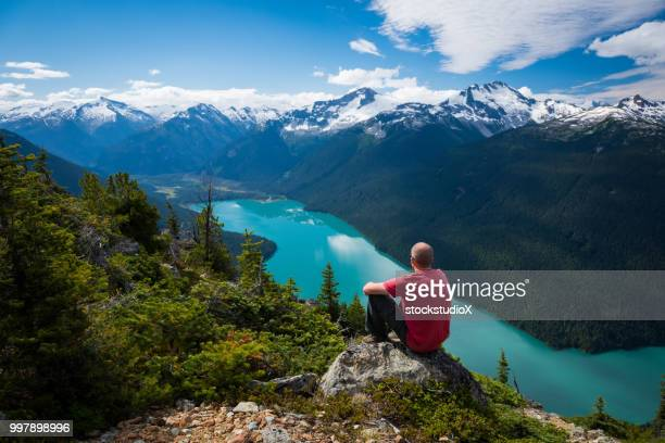 hiking in stunning nature - whistler british columbia stock pictures, royalty-free photos & images