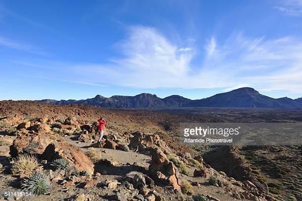 Hiking in Teide National Park below Teide Volcano