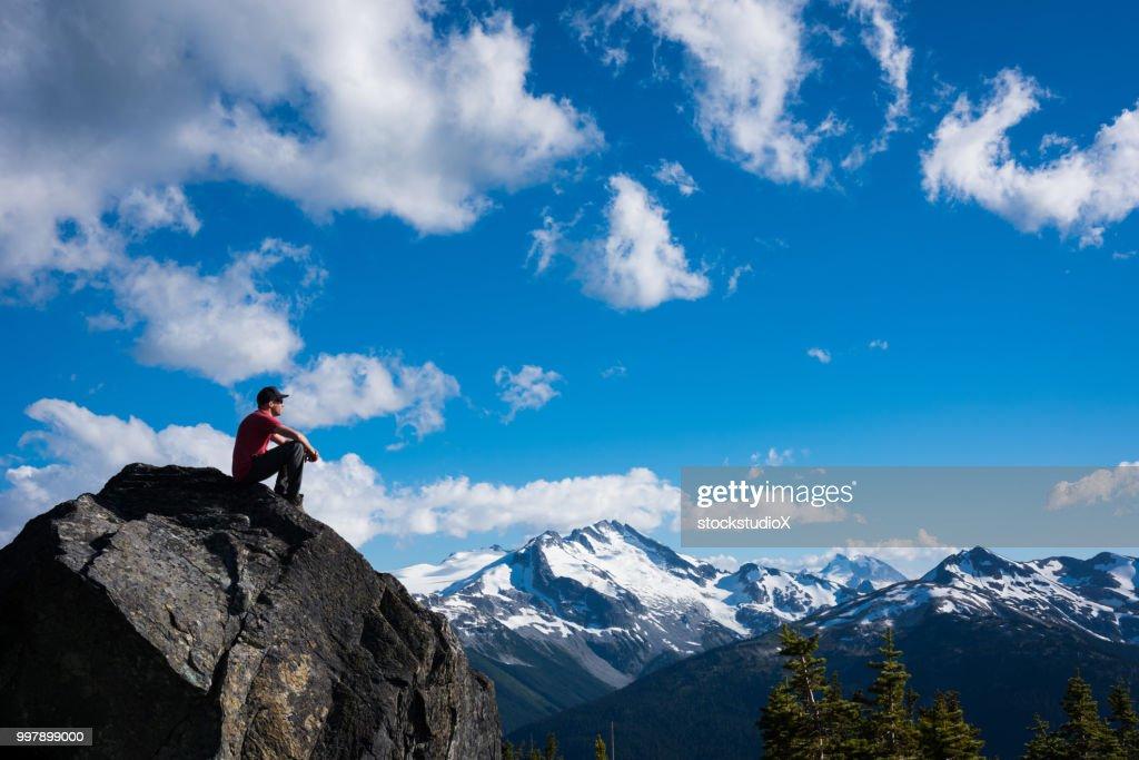 Hiking in the alpine : Stock Photo
