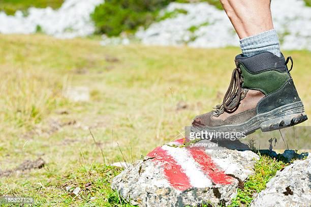 アルプスのハイキング - トレイル表示 ストックフォトと画像