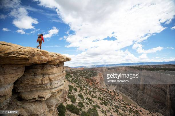 hiking in the big horn canyon - billings montana stock pictures, royalty-free photos & images