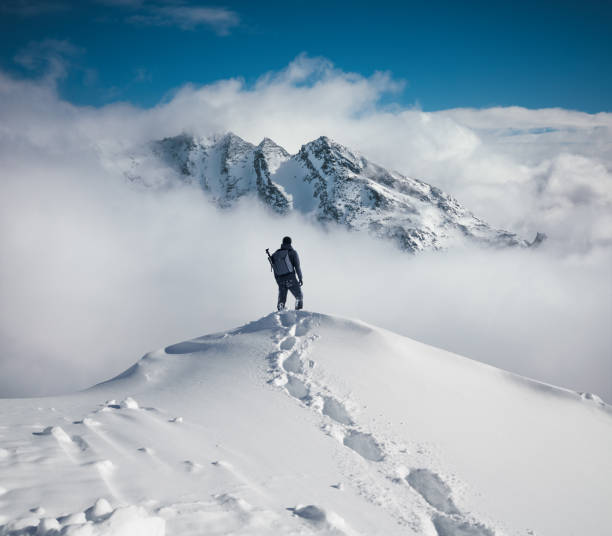 hiking in the mountains - horizontal stock pictures, royalty-free photos & images