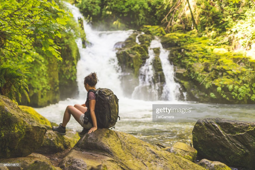 Hiking in the Pacific Northwest : Stock Photo