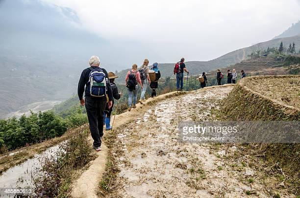 La randonnée dans les montagnes, Vietnam Sapa