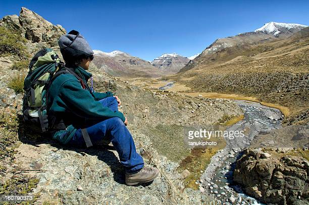 hiking in tibet - mt kailash stock pictures, royalty-free photos & images