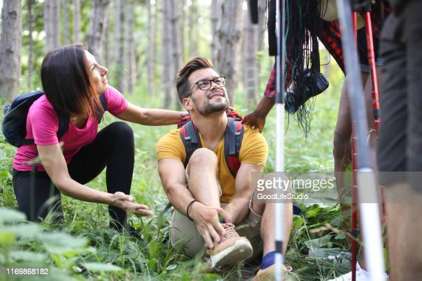 hiking injury - injured stock pictures, royalty-free photos & images