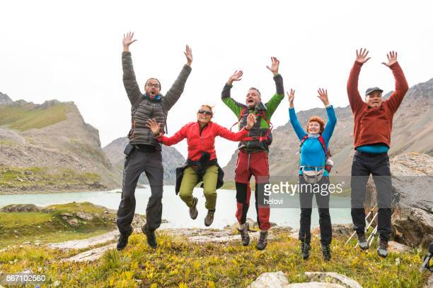 hiking lakes of kyrgyzstan - kyrgyzstan stock photos and pictures
