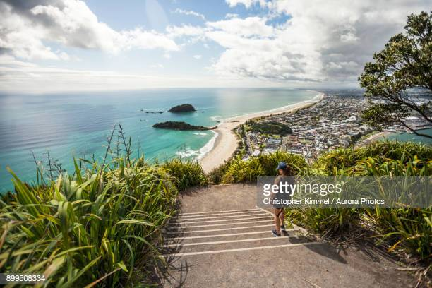 Hiking Mount Maunganui, Bay of Plenty, New Zealand