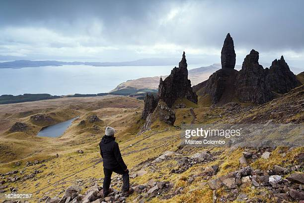 Hiking near the Old Man of Storr