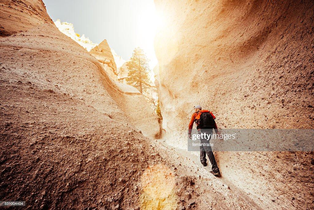Hiking New Mexico : Stock Photo