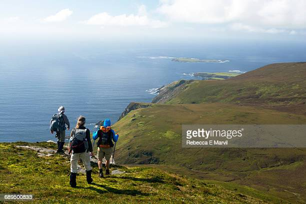 HIking on Slieve League, Donegal, Ireland
