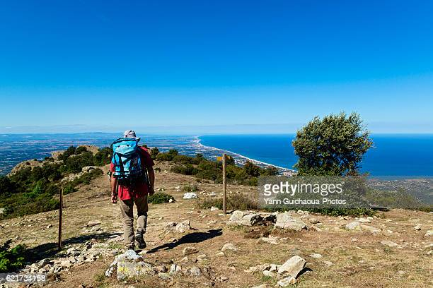 Hiking over Collioure, Pyrenees Orientales, France