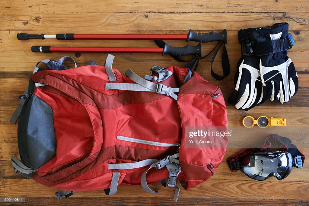 Hiking paraphernalia : Stock Photo