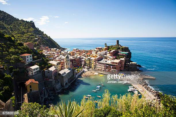 Hiking past Vernazza, Italy.