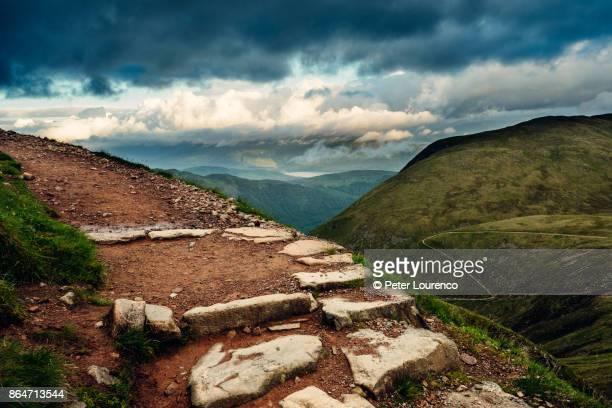 hiking path - peter lourenco stock-fotos und bilder