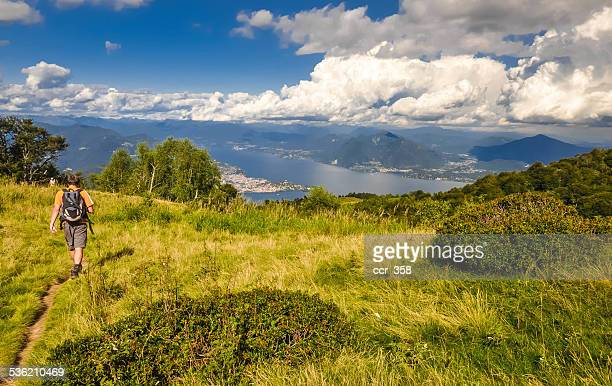 hiking - stresa stock pictures, royalty-free photos & images