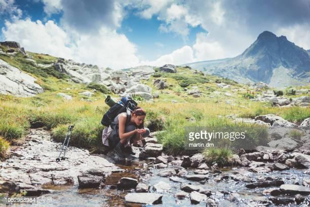 rila escursionistica - ruscello foto e immagini stock