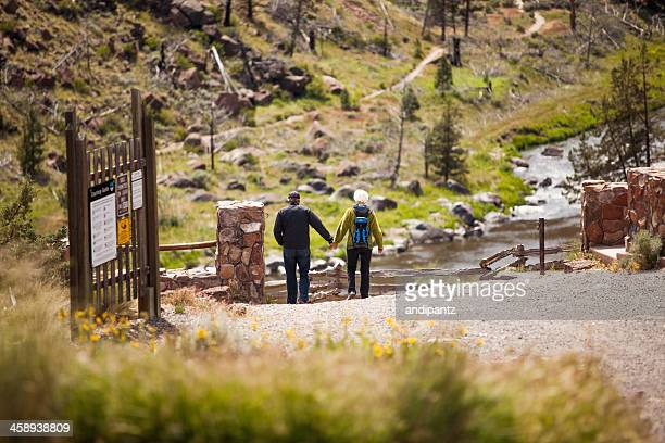 hiking senior citizens - smith rock state park stock pictures, royalty-free photos & images