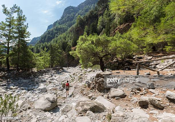 Hiking through the Samaria Gorge, Crete