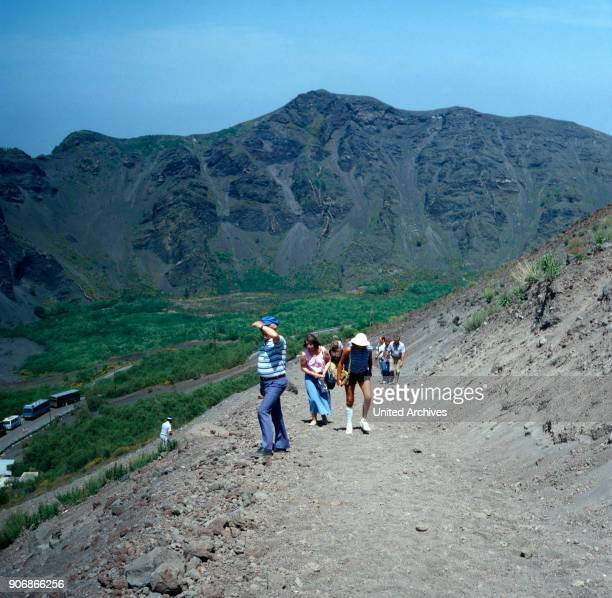Hiking tour to Mount Vesuvius Italy 1970s