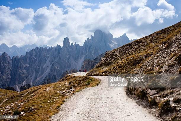 Hiking trail in Dolomiti di Sesto Natural Park