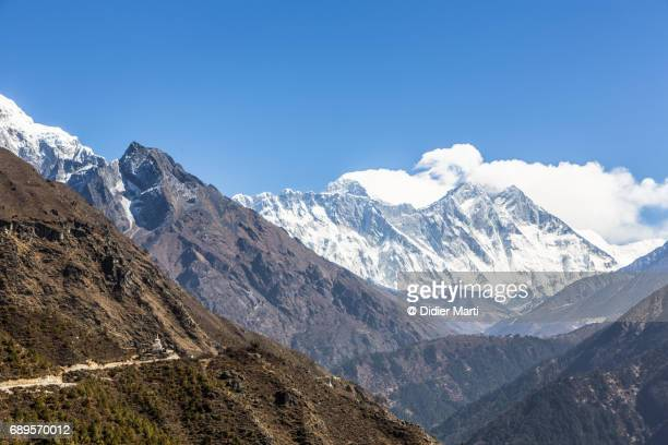 Hiking trail leading to Mt Everest in Nepal