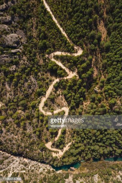 hiking trail near cuenca, castile-la mancha, spain - cuenca provincia de cuenca fotografías e imágenes de stock