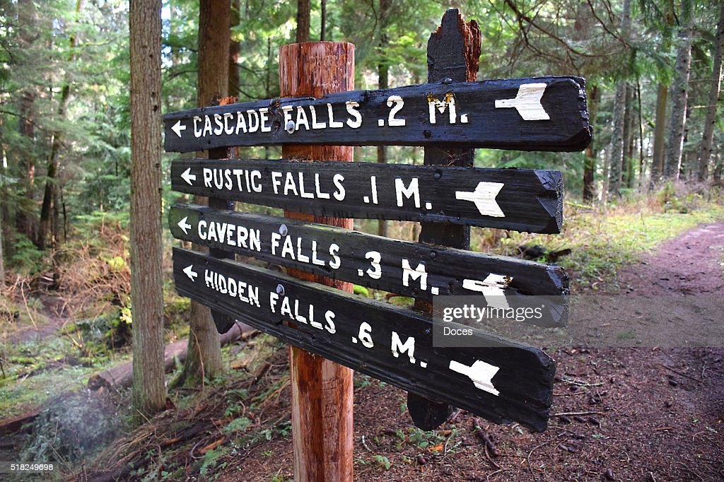 Hiking Trail Signs : Stock Photo