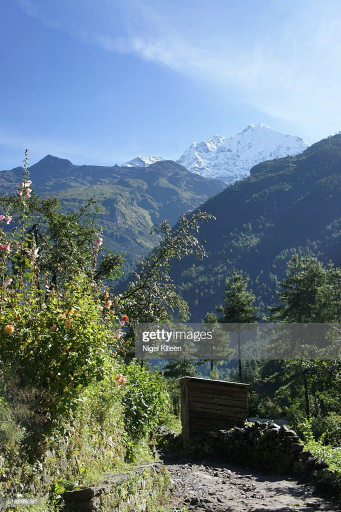 Hiking trail to Mt Everest Base Camp : Stock Photo