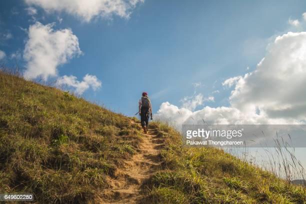 Hiking Trail to Mt. Monjong, Chiangmai, Thailand