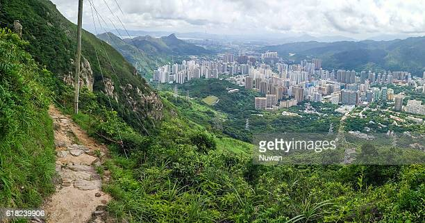 Hiking trails in Castle Peak in Tuen Mun, Hong Kong