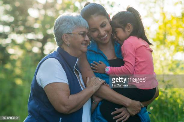 hiking with mom and grandma - fat granny stock pictures, royalty-free photos & images